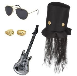 80's Rock God Fancy Dress Outfit Accessories in The Style of Slash Guns and Roses