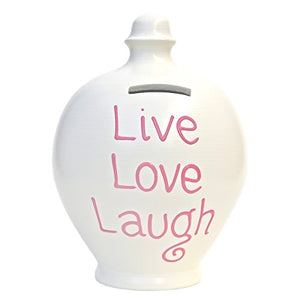 Terramundi - S133 - White with Pink Live, Love, Laugh