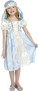 Henbrandt Girls Mary Fancy Dress Costume Outfit for Infant Nativity Christmas Play - Age 4-6