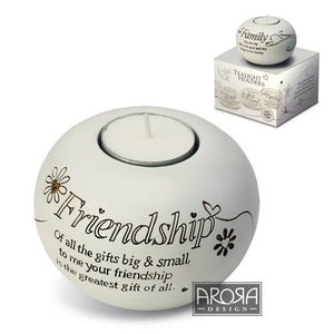 Arora Said with Sentiment Tealight Holder - Friendship