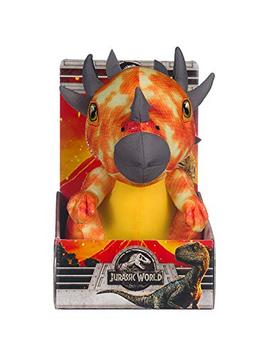 Jurassic World Posh Paws 37454 2 2 Stygimoloch Gift Box Soft Toy, Multi-Colour, 10-Inch