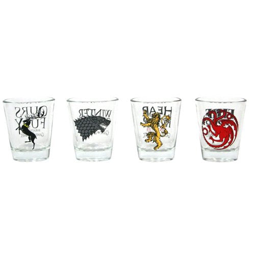 Set Of 4 Game Of Thrones Shot Glasses