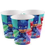 PJMASKS Party Tableware Paper Plates 16, Paper Cups 16, Napkins 16, and a Tablecover