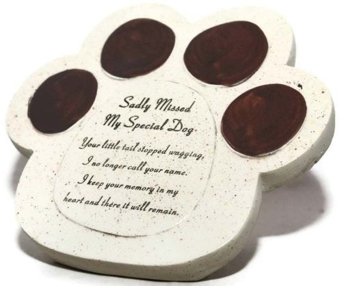 My Special Dog Paw Pet Graveside Ornament by David Fischhoff