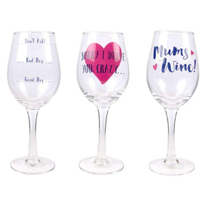 Mother's Day Wine Glass - Sorry I Drive You Crazy