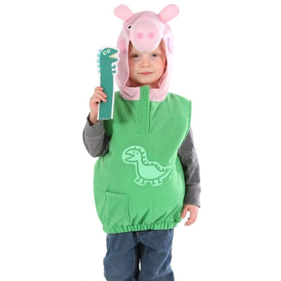 Childs Toddlers Boys Official Licensed Peppa Pig Dino George Fancy Dress Costume