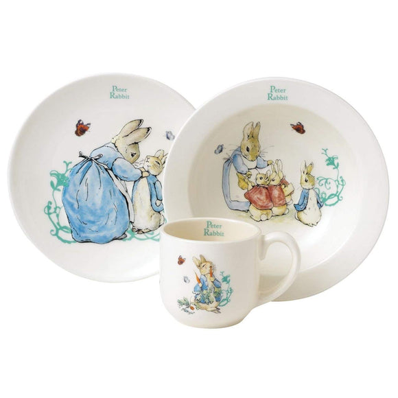 Peter Rabbit Three-Piece Nursery Set by Beatrix Potter