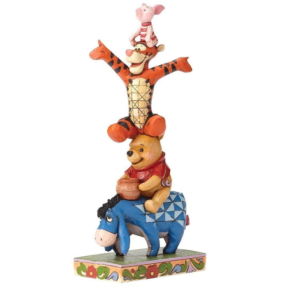 Jim Shore Disney Traditions by Enesco Eeyore, Pooh, Tigger and Piglet Stacked Figurine