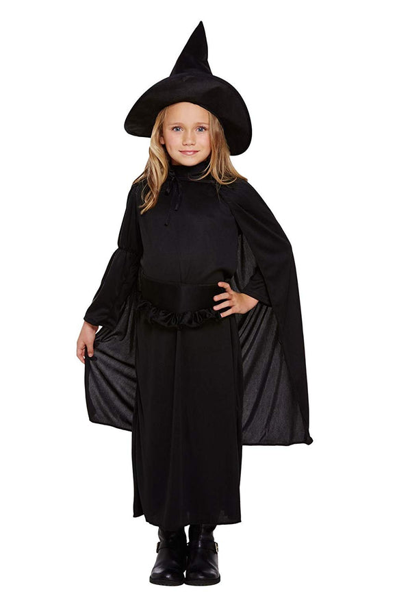 Henbrandt Child's Fancy Dress Classic Witch Costume Age 7-9 Years