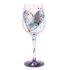 Lolita Silver Lining Hand Painted Wine Glass Gift