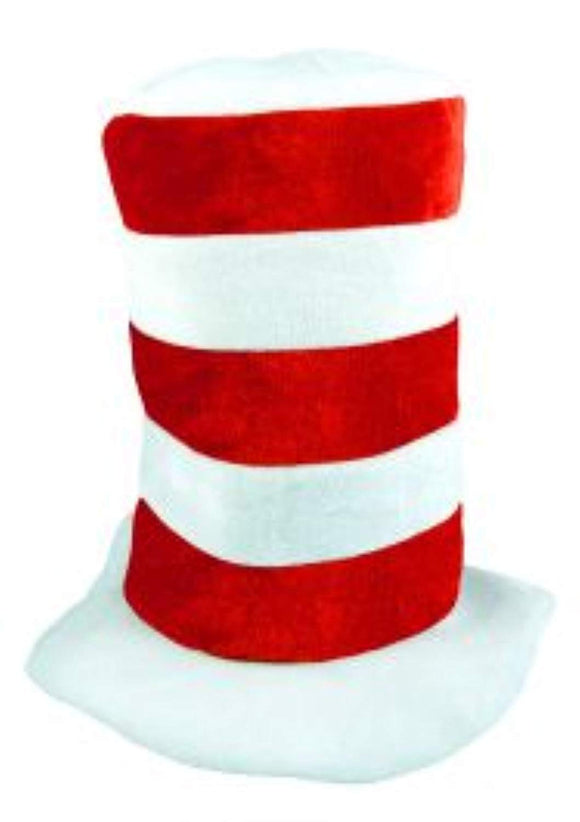 Children's Red & White Tall Hat Book Day Fancy Dress Cat Theme