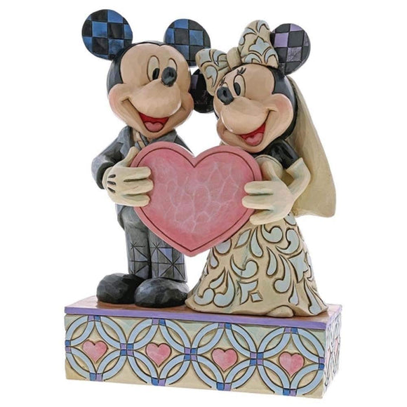Jim Shore Disney Traditions Mickey and Minnie Wedding Figurine 4059748