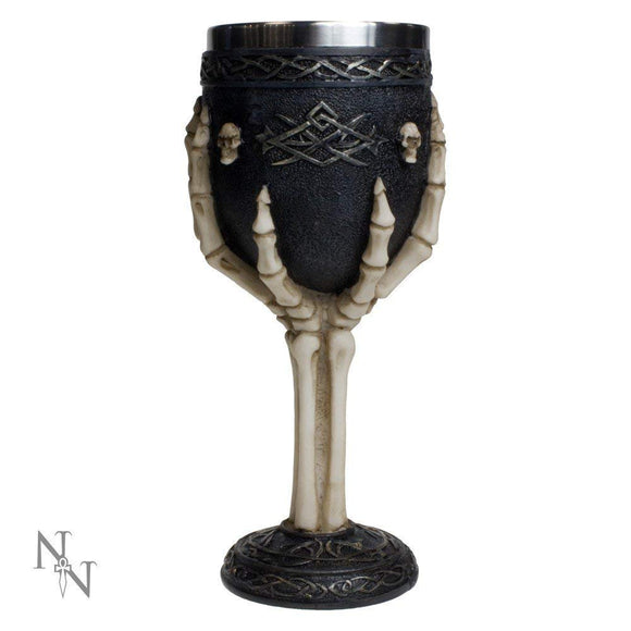 Tribal Skeleton Goblet 19cm - Nemesis Now - Gothic Fantasy Horror Claw
