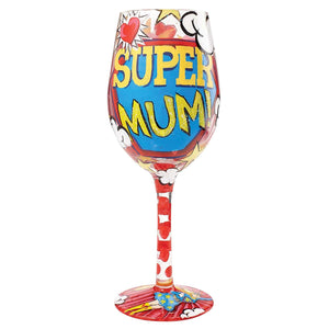 Lolita Glassware A28481 Super Mum Wine Glass