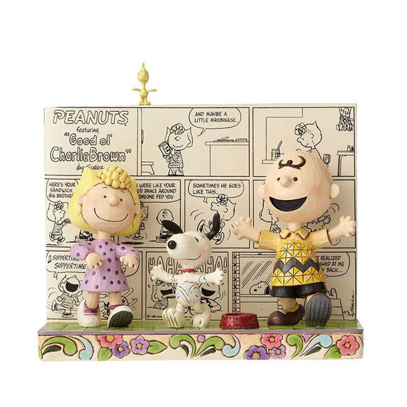 Peanuts by Jim Shore Peanuts Comic Strip Stone Resin Figurine, 6.25