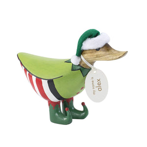 Elf Duck Wooden Figure