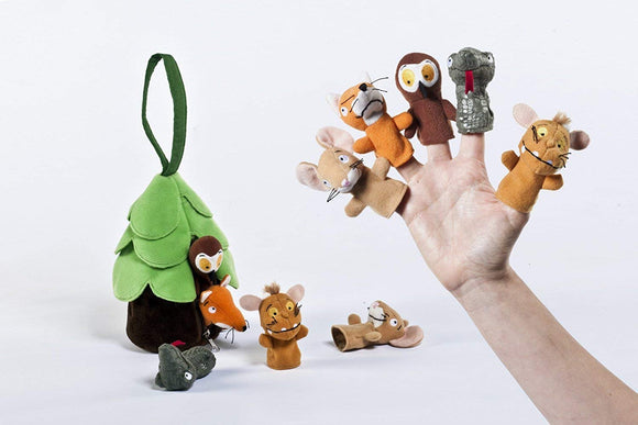 Gruffalo and Friends Plush Soft Finger Puppets with Zip Case