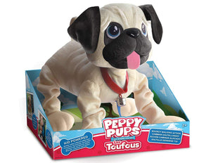 "Snuggle Pets ""Peppy Pups Pug"" Toy"