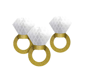 Amscan Honeycomb Hanging Ring Decorations (3 ct), Multicolor
