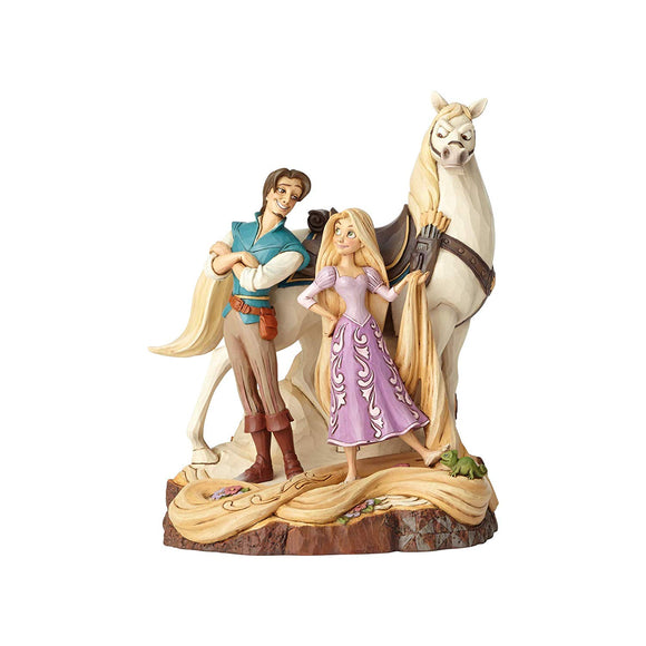 Enesco 4059736 Disney Traditions by Jim Shore Tangled Carved by Heart Live Your Dream Stone Resin Figurine, 21.5 Inches, Multicolor