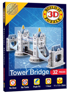 Mini 3D Tower Bridge Build-It Puzzle (32 Pieces)
