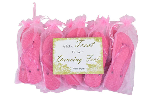 Modo's Wedding/Party Hot Pink Flip Flop Pack 10 Pairs