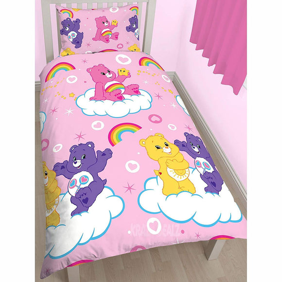 Care Bears Share Single/US Twin Duvet Cover and Pillowcase Set