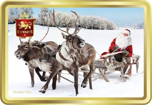 150g Shortbread Christmas Collection - Reindeer Run with Santa