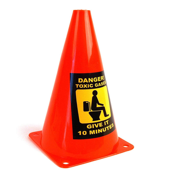 Toxic Gases Toilet Caution Cone
