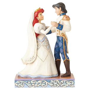 Jim Shore Disney Traditions by Enesco Ariel and Prince Eric Wedding Figurine