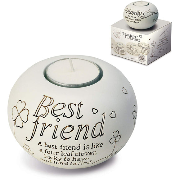 Arora Said with Sentiment Tealight Holder - Best Friend