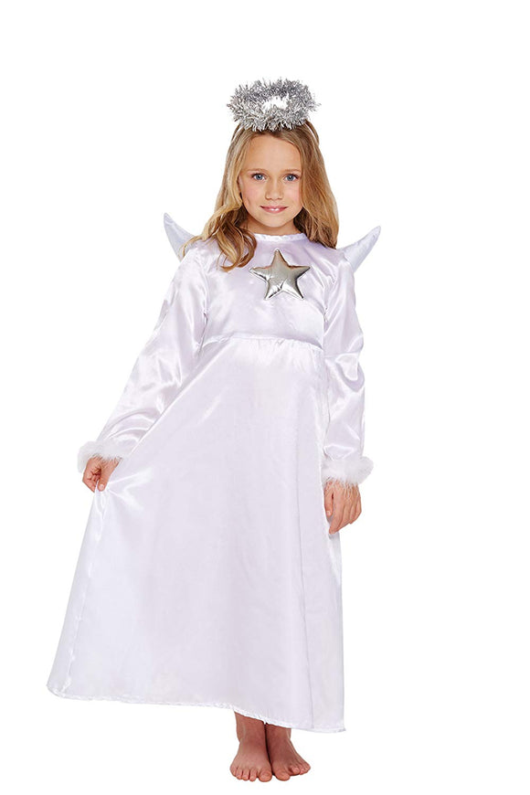 Henbrandt Nativity Children's Angel Costume With Fur Age 4-6 Years