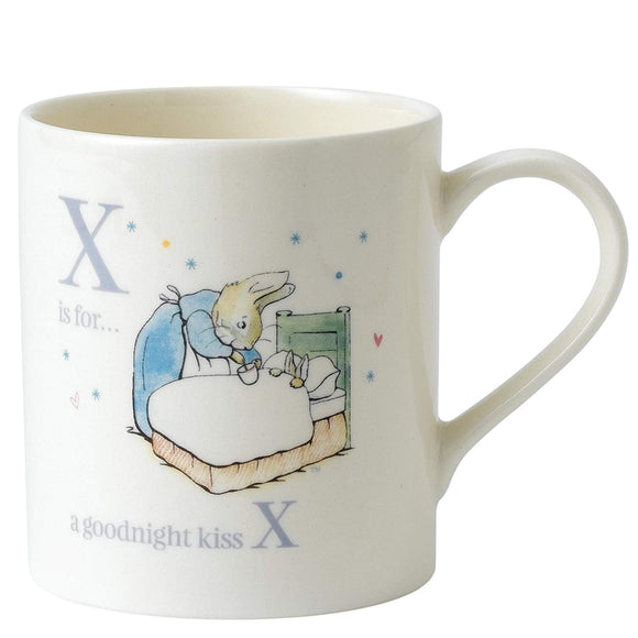 Peter Rabbit Alphabet Mug - (X) Goodnight Peter Rabbit Mug - A27332