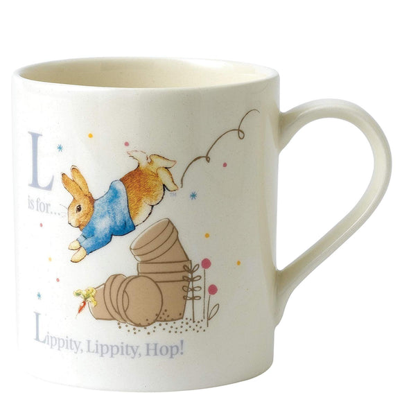 Beatrix Potter L - Peter With Plant Pot Porcelain Mug