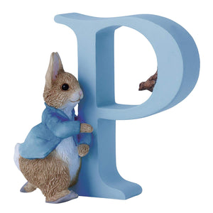 Beatrix Potter Alphabet Figurine Letter P Peter Rabbit NEW!