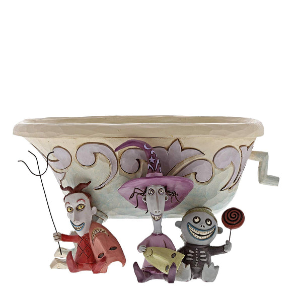 Department56 Enesco Disney Traditions Lock Shock Barrel Candy Dish, Multicolor