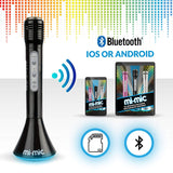 Mi-Mic Karaoke Microphone Speaker with Bluetooth and LED Lights - Black