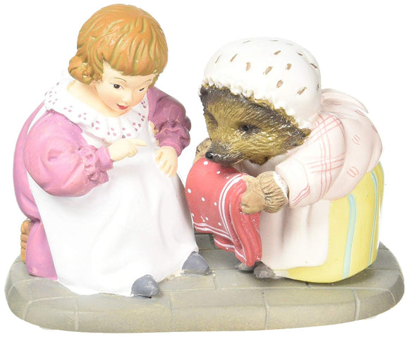 Beatrix Potter A29191 Mrs Tiggy Winkle & Lucie Figurine