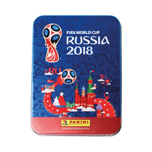 Panini FIFA World Cup 2018 Sticker Mega Tin incl 20 sealed packets (100 stickers)
