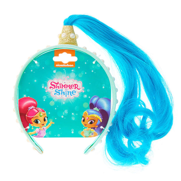 Shimmer & Shine Dress Up Shine blue Fake Hair Aliceband Hairband