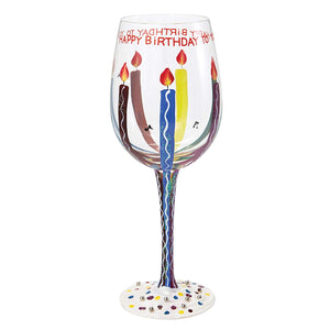 "Lolita Glassware Tipsy Birthday Wine Glass (4054097), 9"", Multicolor"
