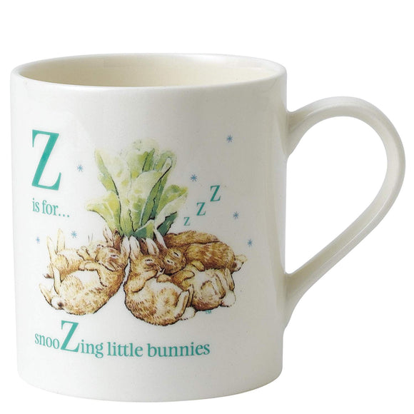 Beatrix Potter Letter Z - Flopsy Bunnies Sleeping Porcelain Mug