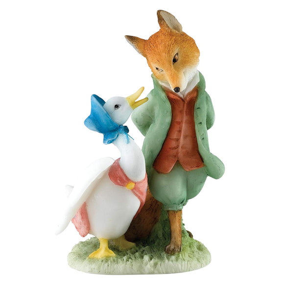 Enesco Beatrix Potter Miniature Figurine - Jemima & The Foxy-Whiskered Gentleman (A27676)