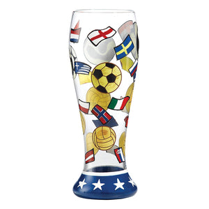 Enesco Lolita Pilsner Glass Collection -The Beautiful Game Beer Glass -23cm - PIL-5515S