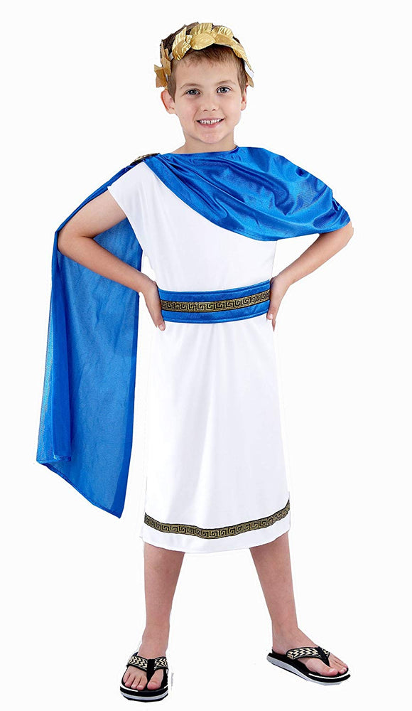 Boys Caesar Roman Emperor Fancy Dress Costume Age 7-9