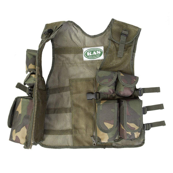 Kids Army Camouflage Assault Vest - Fits Ages 5-14