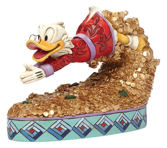 Enesco Jim Shore Disney Treasure Dive Scrooge McDuck Diving into Money Figurine 4046055