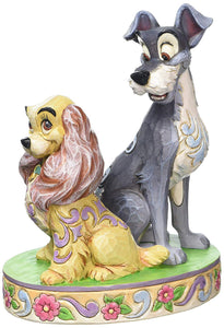 Jim Shore Disney Lady and the Tramp 60th Anniversary Figurine 4046040 New