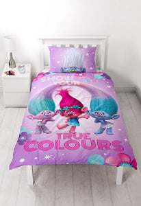 Trolls 'glow' Panel Single Duvet Set - Large Print Design