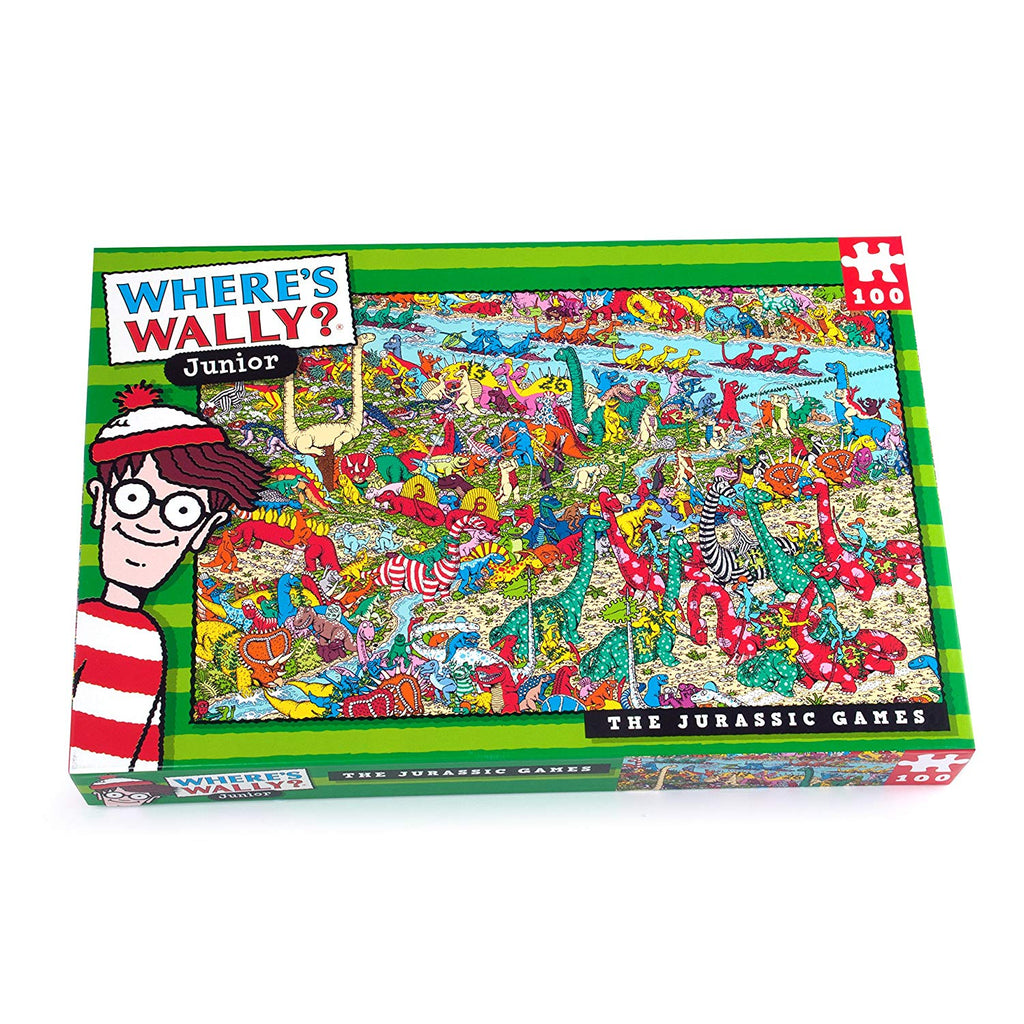 Where's Wally The Jurassic Games 100 Piece Puzzle